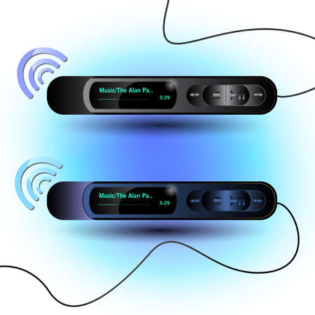 Mp3 player on the colour backgraund Vector