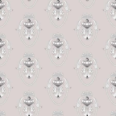 Baroque decorative seamless pattern Illustration