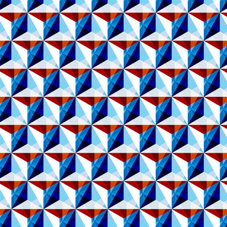 Triangle pattern including seamless sample in swatch panel Vector