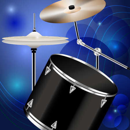 chrome base: Drum and percussion on blue abstract background