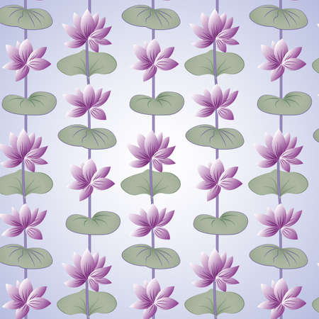 Lotus pattern including seamless sample in swatch panel