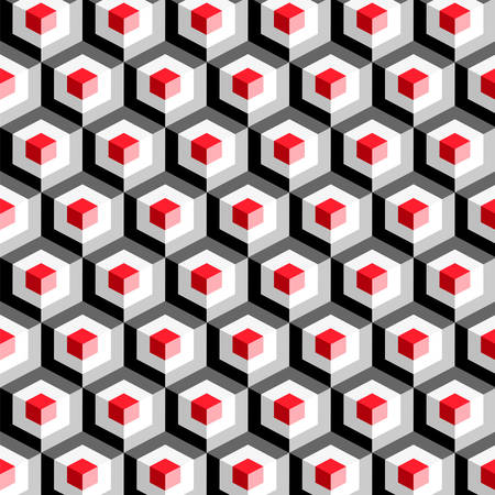 Hexagon pattern including seamless sample in swatch panel