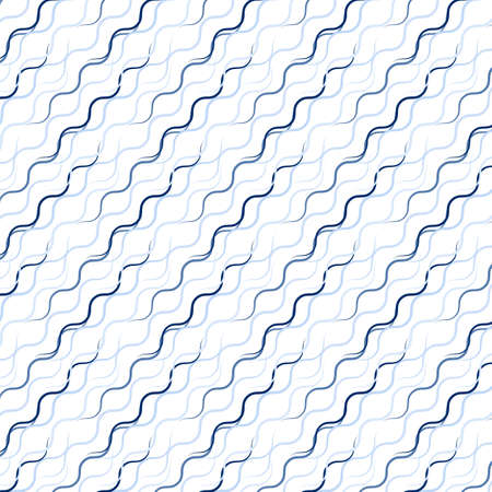 Waved line pattern including seamless sample in swatch panel Vector