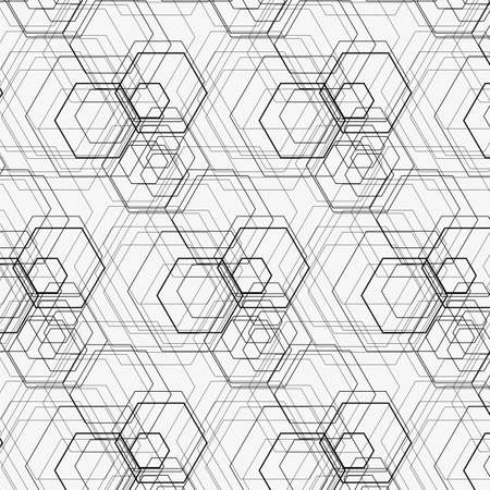 modular: Hexagon pattern including seamless sample in swatch panel