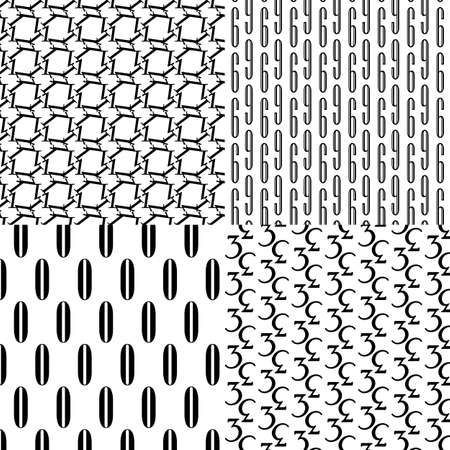 repeatable: Number pattern including seamless sample in swatch panel
