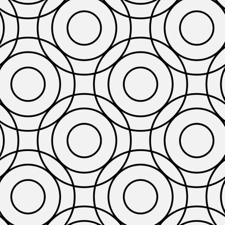 Circle pattern  including seamless sample in swatch panel