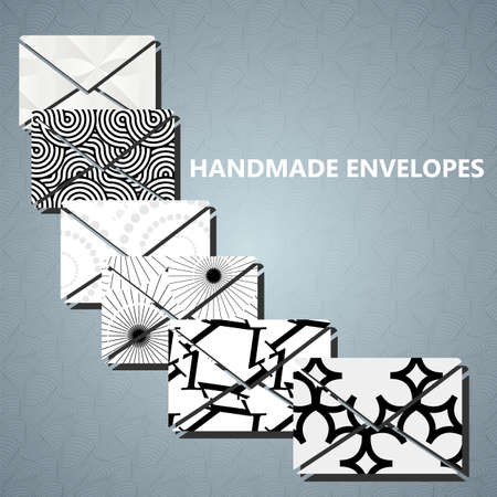 blackwhite: Envelopes with many abstract black-white pattern cover