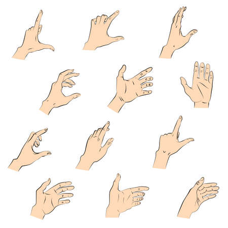 swipe: Set of holding gestures hands