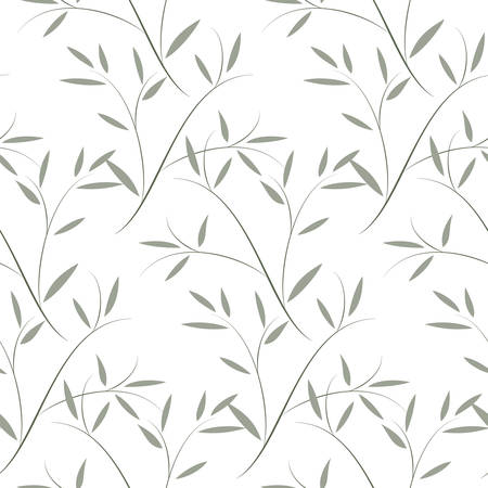 Botanic pattern including seamless sample in swatch panel