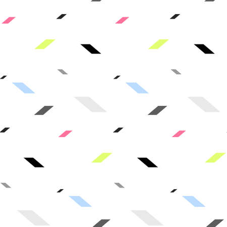 parallelepiped: Colored parallelepiped pattern including seamless sample in swatch panel Illustration