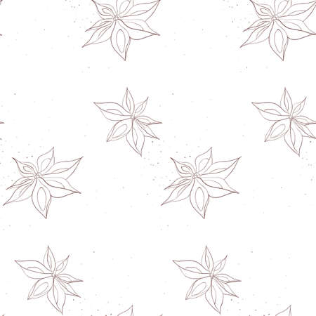 star anise: Anise pattern including seamless sample in swatch panel (AI)