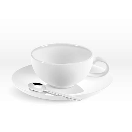 rotund: Isolated white porcelain rotund cup for coffee