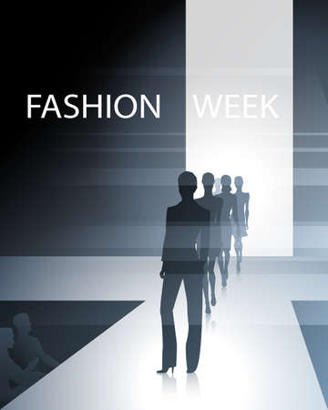 fashion week: Fashionable female silhouettes on the runway