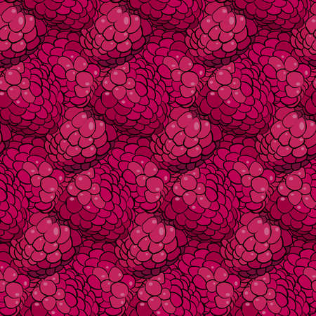 raspberry pink: Raspberry pattern including seamless sample in swatch panel