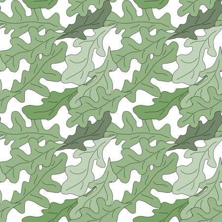 salvia: Sage seamless pattern with sample in swatch panel (AI)