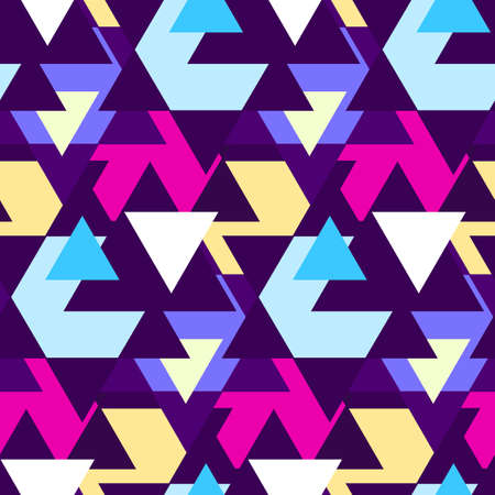 blue violet: Abstract geometric seamless pattern with sample in swatch panel(AI)