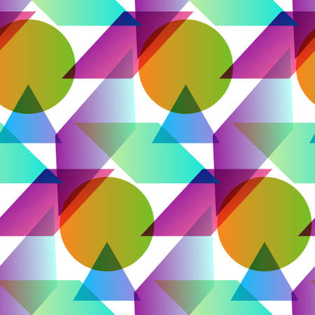 canlı renkli: Vivid color seamless pattern with sample in swatch panel (eps)