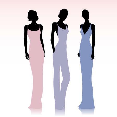 female silhouettes: Fashion female silhouettes