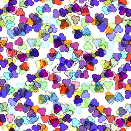 wallpaper vibrant: Seamless tinsel pattern with sample in swatch panel (eps)