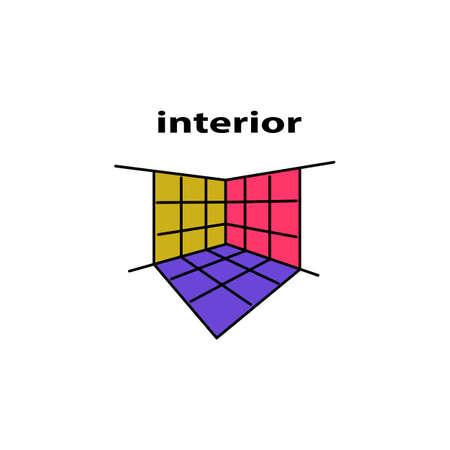 croquis Vecteur de logo intérieur Logo