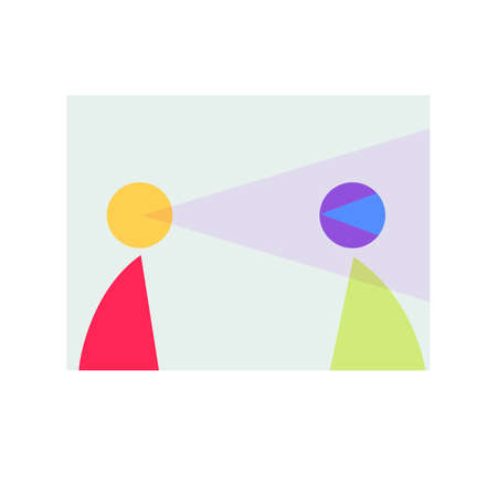 Illustration of abstract people communication