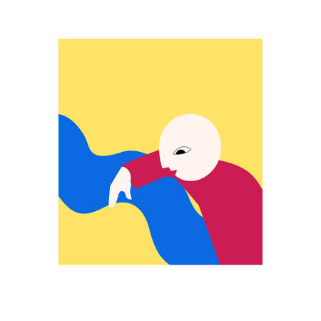 Illustration of abstract man symbolizing curiosity