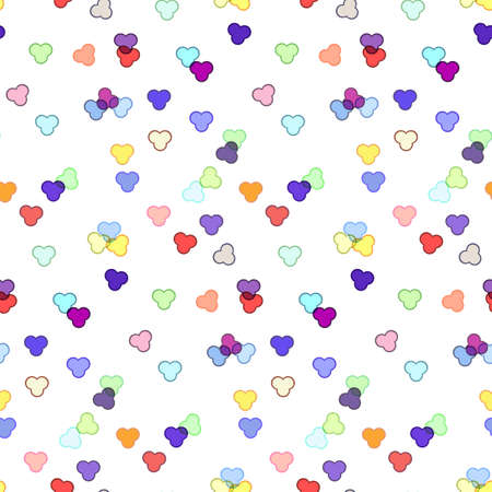 Seamless pattern of confetti or colorful tinsel