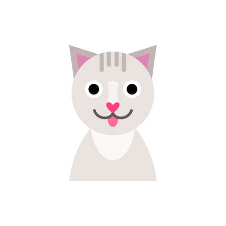 Illustration of a cat, funny pet, childrens toy
