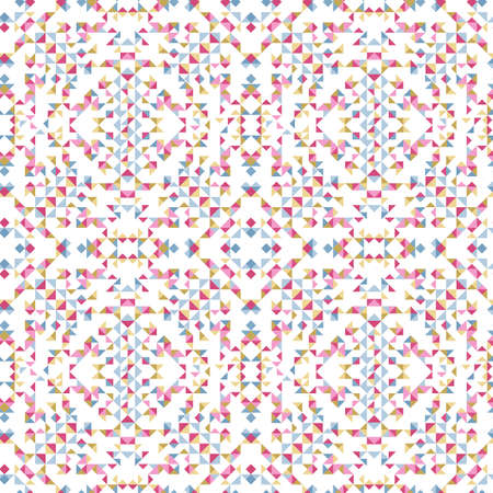 Illustration of abstract kaleidoscope seamless pattern