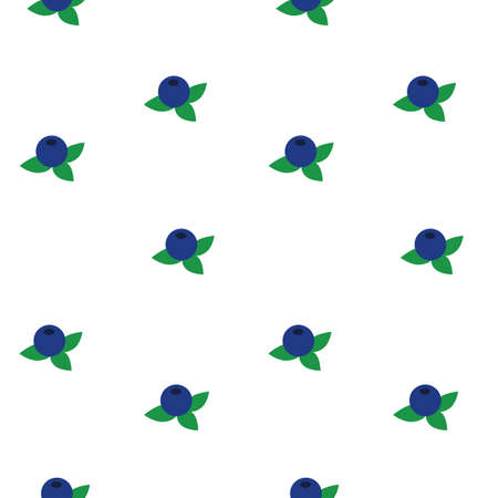 Illustration of bog whortleberry or bog bilberry seamless pattern