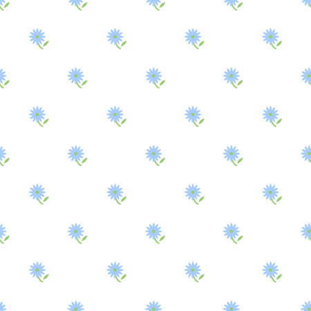 Illustration of seamless pattern of blue flowers
