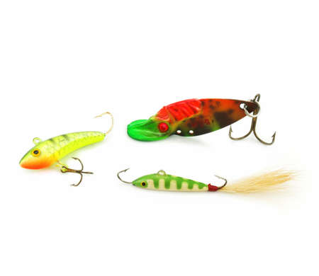 wobler: Wobbler for fishing a fish isolated on a white background Stock Photo