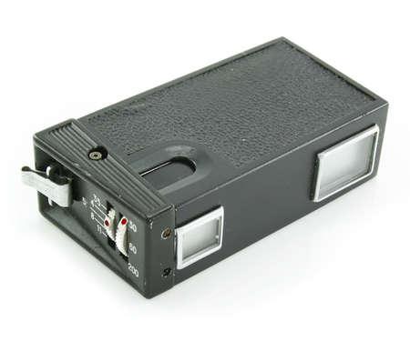 espionage: Small espionage photocamera isolated on a white background