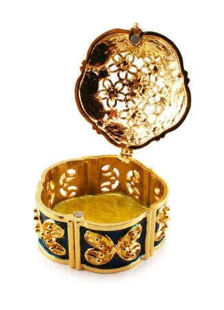 resplendence: Opened jewel box isolated on a white background