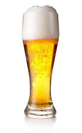 Full glass of beer isolated on white background Stock Photo - 10692453