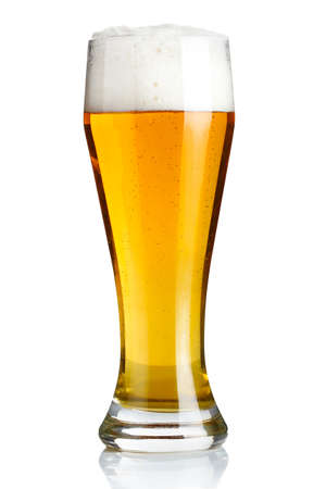 beer glass: Glass of beer isolated on a white background