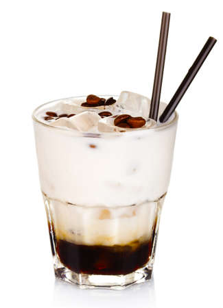 White russian alcohol cocktail isolated on white background Imagens
