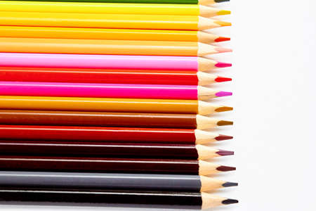 A set of colored pencils for drawing