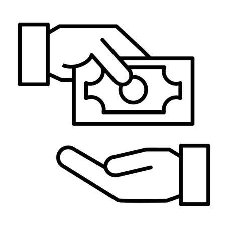 Receiving Money Icon. Vector Illustration