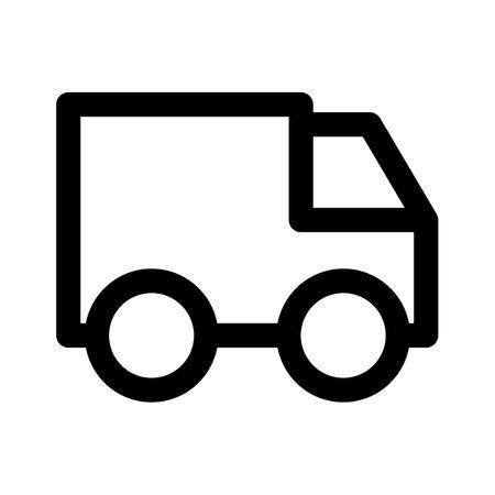 truck icon delivery symbol design element Vectores