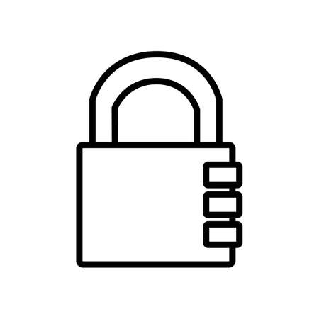 Combination lock on white background, security concept, vector illustration Vectores