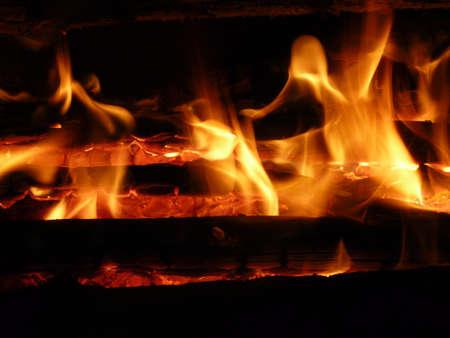 la quemada: Fuego en la noche, la madera quemada