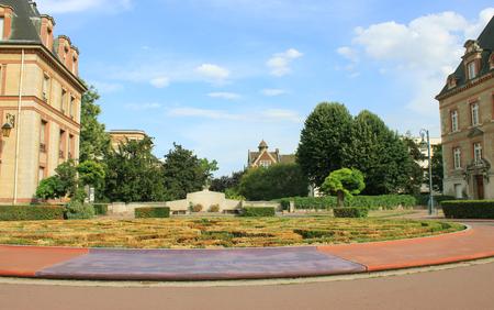 cite: Student campus - Cite Universitaire, in Paris, august