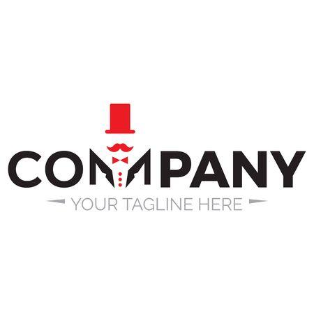 logo del salone del barbiere dei signori per l'azienda