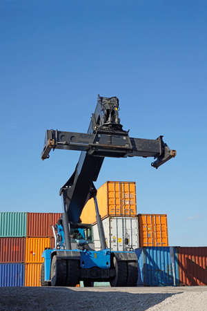 intermodal: container harbor Editorial