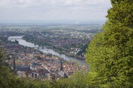 monastery nature: Neckar River in Heidelberg