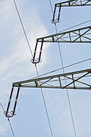 electrical tower: Part of an electrical tower