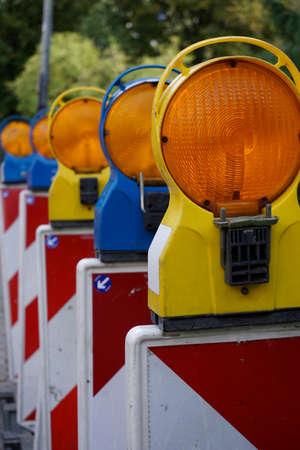 site: construction site signal lamps
