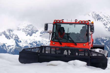 broaching: snow crawler Stock Photo