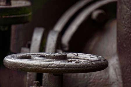 valve: historic steam valve Stock Photo